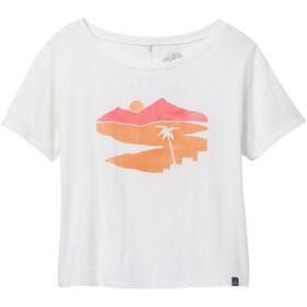 Prana Organic Graphic T-Shirt Women white beach town